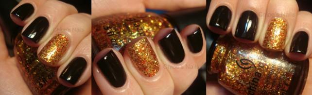 schwarze und Golden Nägel