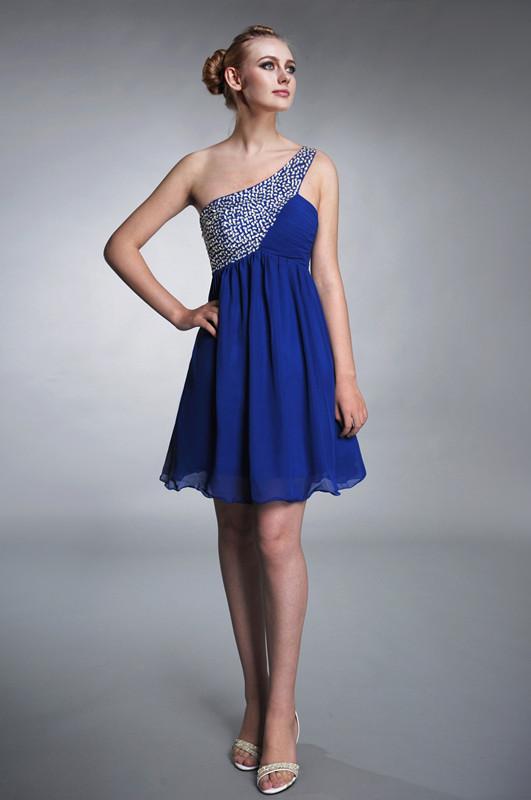 blau Kleider fur Hochzeit kurz